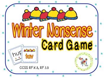 Winter Nonsense Card Game