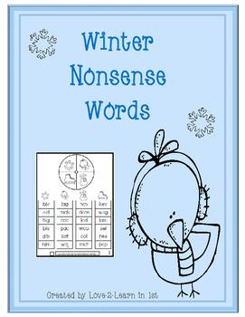 Winter Nonsense Words