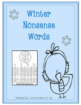 Winter Nonsense Words