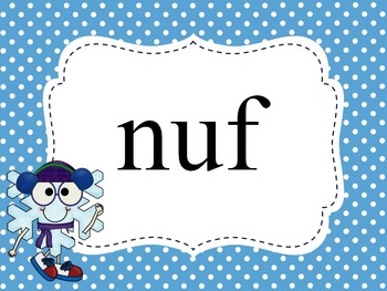 Nonsense Word Fluency Powerpoint for Dibels - Winter theme