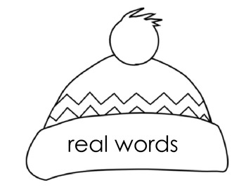 Winter Nonsense Words Real Words Center Activity