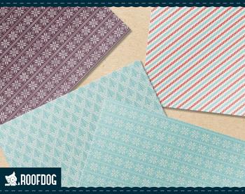 Winter Nordic knit pattern digital paper