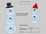 Winter Note Reading Worksheet- Alto clef