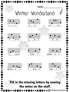 Winter Notespeller