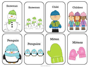 Winter Noun Matching Activity