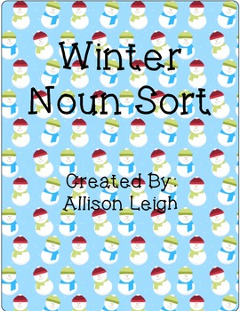 Winter Noun Sort