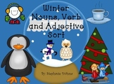 Festive Friday Winter Noun, Verb, and Adjective Sort
