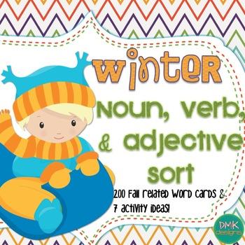 Winter Noun, Verb, and Adjective Sort