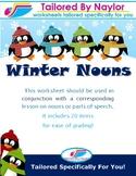 Winter Noun Worksheet/Test