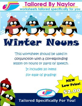 Winter Noun Worksheet/Test