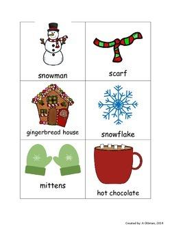 Winter Noun and Verb Sort
