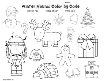 Winter Nouns Free