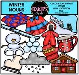 Winter Nouns Clip Art Bundle {Educlips Clipart}