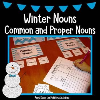 Winter Nouns {Common and Proper Nouns Activity}