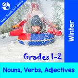 Winter Nouns, Verbs, Adjectives Grades 1-2