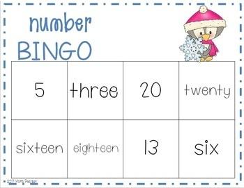 Winter Number Bingo