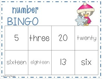 Winter Number Bingo