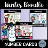 Winter Number Cards Bundle