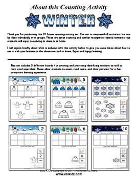 Winter Number Counting Activities