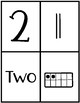 Winter Number Fluency Puzzle Cards | English | 1-10