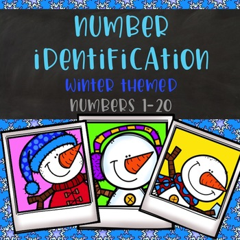 Winter Number Identification Color-By-Number