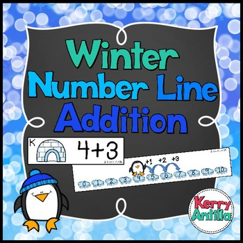 Winter Number Line Addition