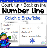 Number Line Addition and Subtraction Winter Theme