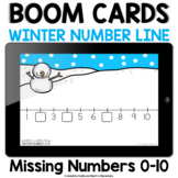 Winter Number Line | Missing Numbers 0-10 | BOOM Cards