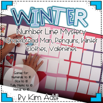 Winter Number Line Mystery by Kim Adsit