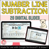 Winter Number Line Subtraction Activity with Google Jamboard™ and Google Slides™