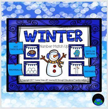 Winter Number Match Up Math Center