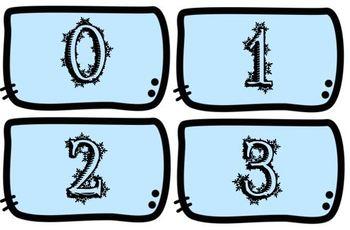 Winter Number Match (ten frames & tally marks)