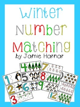 Winter Number Matching 1-20