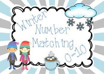 Winter Number Matching Cards