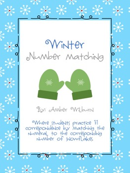 Winter Number Matching Game