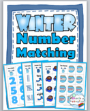 Winter Math Number Matching  - Ten Frame, Tally Mark, Etc