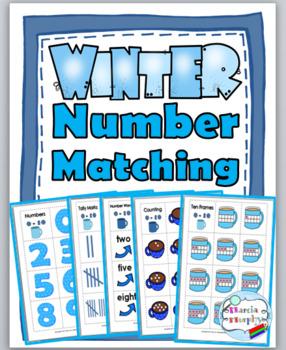 #thankful4u   Winter Math Number Matching  - Ten Frame, Tally Mark, Etc