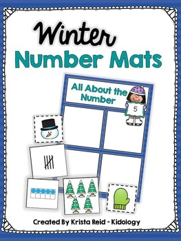 Winter Number Mats - Counting, Tracing, Ten Frames and Tal