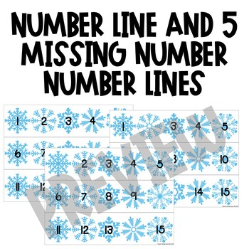 Winter Number Order and Skip Counting Puzzles