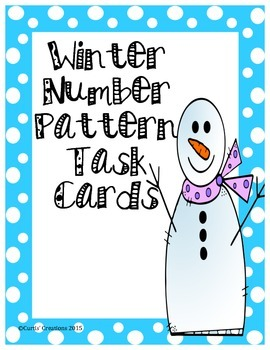 Winter Number Pattern Task Cards