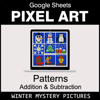 Winter - Number Patterns: Addition & Subtraction - Google Sheets