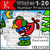 Winter Number Practice 1-20 No Prep Printables {TEKS/CCSS}