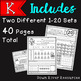 Winter Number Practice 1-20 No Prep Printables {TEKS/CCSS}
