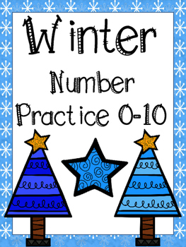 Number Sense: Winter Number Practice 0-10