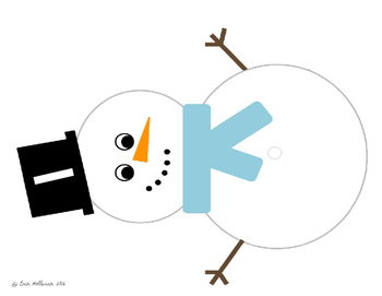 Winter Counting - Snowman Buttons