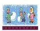 Winter Number Puzzle for Prekindergarten