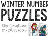 Winter Number Puzzles - Counting & Skip Counting Center