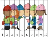 Winter Number Puzzles Freebie