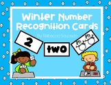 Winter Number Recognition Cards (Numbers 1-10)
