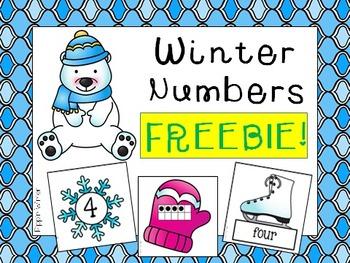 Winter Number Sense 0 - 30 FREEBIE